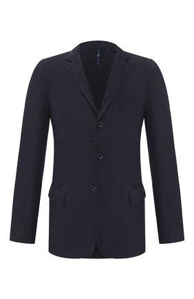 Мужской льняной пиджак 120% LINO темно-синего цвета, арт. R0M8469/0253/000 | Фото 1
