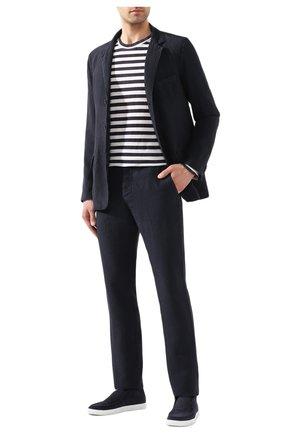 Мужской льняной пиджак 120% LINO темно-синего цвета, арт. R0M8469/0253/000 | Фото 2