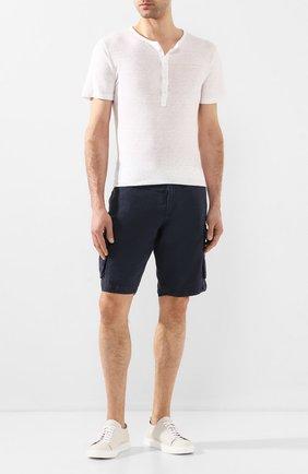 Мужская льняная футболка 120% LINO белого цвета, арт. R0M7672/E908/S00 | Фото 2
