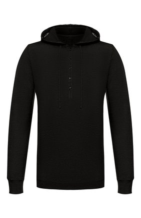Мужской льняной джемпер 120% LINO черного цвета, арт. R0M7553/E908/S00 | Фото 1