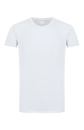 Мужская льняная футболка 120% LINO голубого цвета, арт. R0M7288/E908/S00 | Фото 1