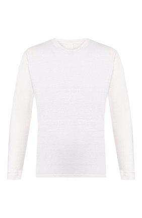 Мужской льняной джемпер 120% LINO белого цвета, арт. R0M70F4/E908/S00 | Фото 1
