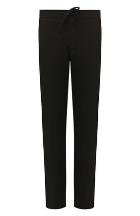 Мужской льняные брюки 120% LINO черного цвета, арт. R0M299M/0253/000 | Фото 1
