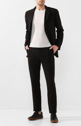 Мужской льняные брюки 120% LINO черного цвета, арт. R0M299M/0253/000 | Фото 2