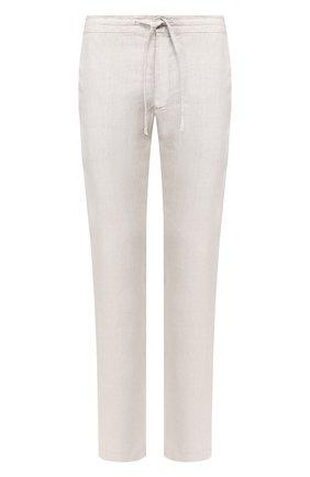 Мужской льняные брюки 120% LINO светло-серого цвета, арт. R0M299M/0253/000 | Фото 1