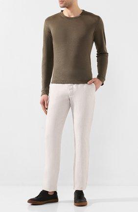 Мужской льняные брюки 120% LINO светло-серого цвета, арт. R0M299M/0253/000 | Фото 2