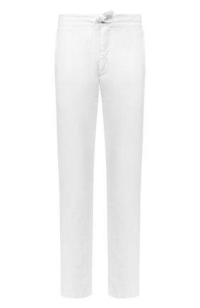 Мужской льняные брюки 120% LINO белого цвета, арт. R0M299M/0253/000 | Фото 1