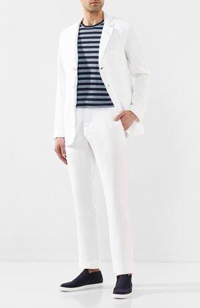 Мужской льняные брюки 120% LINO белого цвета, арт. R0M299M/0253/000 | Фото 2