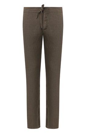 Мужской льняные брюки 120% LINO хаки цвета, арт. R0M299M/0253/000 | Фото 1
