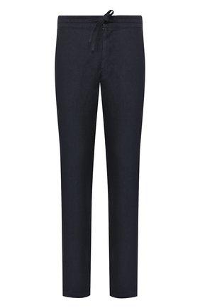 Мужской льняные брюки 120% LINO темно-синего цвета, арт. R0M299M/0253/000 | Фото 1