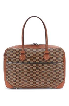 Мужской кожаный портфель MOREAU коричневого цвета, арт. SSV040ITVTTTSTB | Фото 1