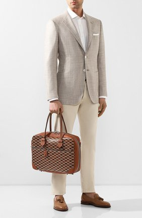 Мужской кожаный портфель MOREAU коричневого цвета, арт. SSV040ITVTTTSTB | Фото 2