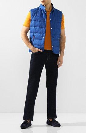 Мужские замшевые мокасины RALPH LAUREN темно-синего цвета, арт. 815795849 | Фото 2