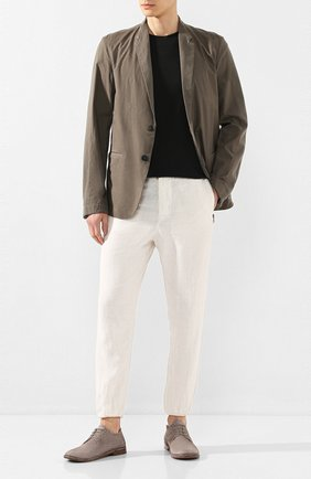 Мужской замшевые дерби MOMA серого цвета, арт. 2AS045-0LT0X   Фото 2
