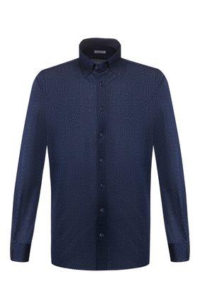 Мужская хлопковая рубашка ZILLI темно-синего цвета, арт. MFT-MERCU-56055/RJ01 | Фото 1