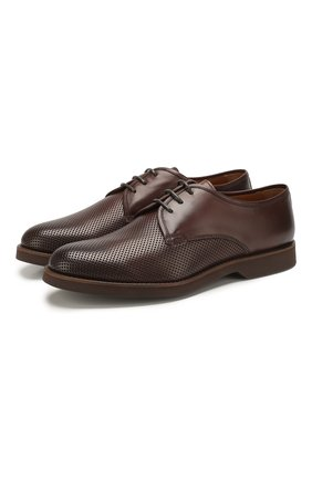Мужской кожаные дерби DOUCAL'S темно-коричневого цвета, арт. DU1188P0TEUF155TM00 | Фото 1