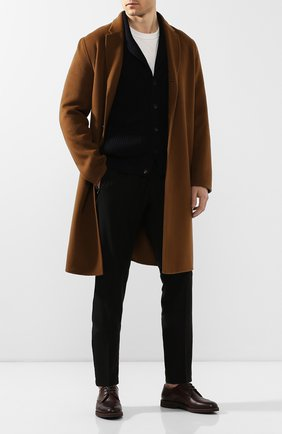 Мужской кожаные дерби DOUCAL'S темно-коричневого цвета, арт. DU1188P0TEUF155TM00 | Фото 2