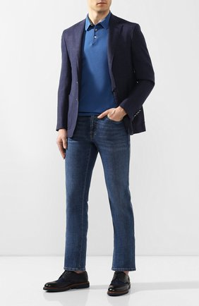 Мужской комбинированные дерби DOUCAL'S темно-синего цвета, арт. DU2526BL00PY439BB00 | Фото 2