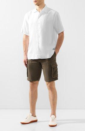 Мужская льняная рубашка ETON белого цвета, арт. 1000 00865   Фото 2