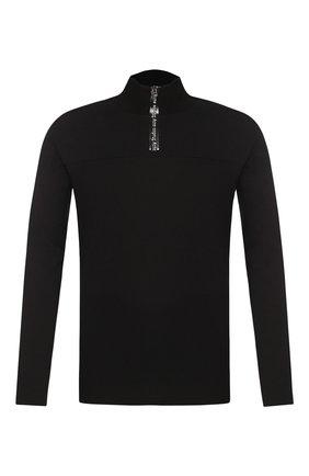 Мужская лонгслив из вискозы ACNE STUDIOS черного цвета, арт. BL0142/M | Фото 1