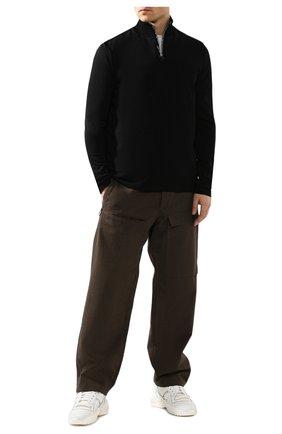 Мужская лонгслив из вискозы ACNE STUDIOS черного цвета, арт. BL0142/M | Фото 2