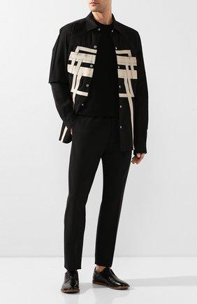 Мужской кожаные дерби ANTONIO MAURIZI черного цвета, арт. 9621/T0DI   Фото 2