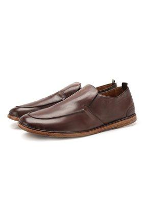 Мужские кожаные лоферы ANTONIO MAURIZI темно-коричневого цвета, арт. 9622/T0DI   Фото 1
