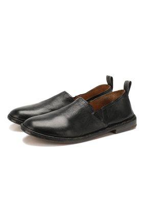 Мужские кожаные лоферы MOMA черного цвета, арт. 2FS062-LUT0X   Фото 1