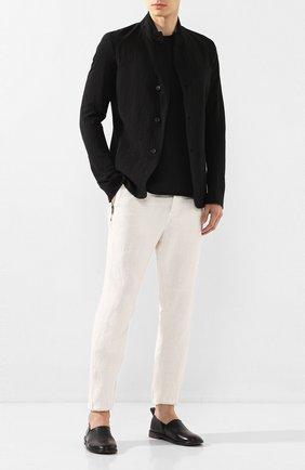 Мужские кожаные лоферы MOMA черного цвета, арт. 2FS062-LUT0X   Фото 2