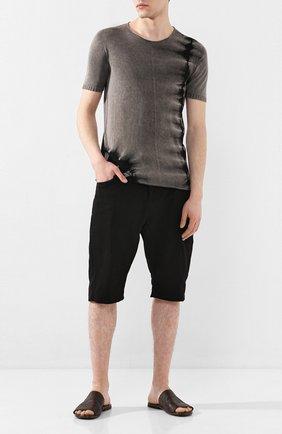 Мужские кожаные шлепанцы MOMA темно-коричневого цвета, арт. 2GS038-IN | Фото 2