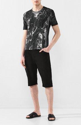 Мужские кожаные шлепанцы MOMA черного цвета, арт. 2GS039-IN   Фото 2