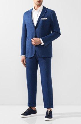 Мужской костюм из смеси хлопка и кашемира KNT синего цвета, арт. UAS0101K06S43 | Фото 1