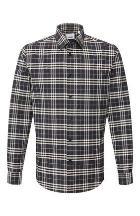 Мужская хлопковая рубашка BURBERRY разноцветного цвета, арт. 8025845 | Фото 1