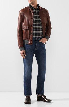 Мужская хлопковая рубашка BURBERRY разноцветного цвета, арт. 8025845 | Фото 2