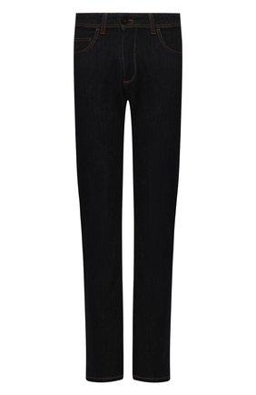 Мужские джинсы LUCIANO BARBERA темно-синего цвета, арт. 114813/46097 | Фото 1