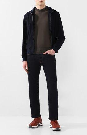 Мужские джинсы LUCIANO BARBERA темно-синего цвета, арт. 114813/46097 | Фото 2