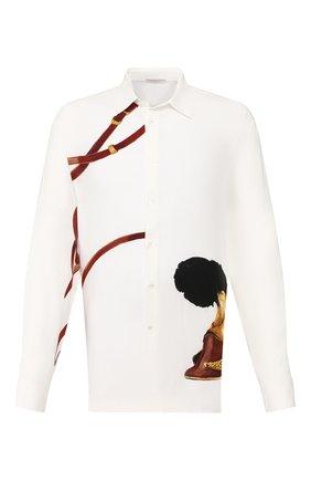 Мужская рубашка из вискозы TRIPLE RRR белого цвета, арт. SS20 S007 0035 | Фото 1