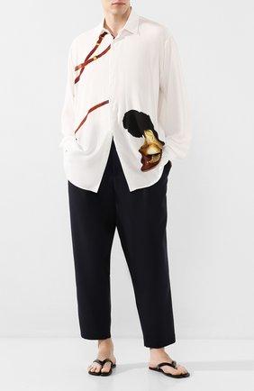 Мужская рубашка из вискозы TRIPLE RRR белого цвета, арт. SS20 S007 0035 | Фото 2