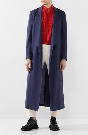 Мужской шерстяное пальто TRIPLE RRR синего цвета, арт. SS20 V019 3014 | Фото 2