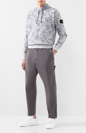 Мужской хлопковые брюки STONE ISLAND SHADOW PROJECT серого цвета, арт. 721930509 | Фото 2