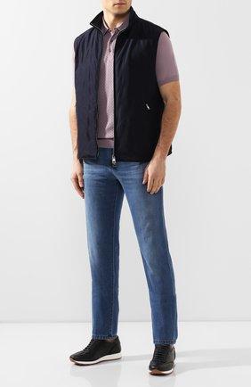 Мужские джинсы ANDREA CAMPAGNA голубого цвета, арт. R0MA R/T94.W230   Фото 2