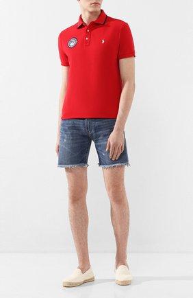Мужское хлопковое поло POLO RALPH LAUREN красного цвета, арт. 710793983 | Фото 2