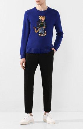 Мужской хлопковый свитер POLO RALPH LAUREN синего цвета, арт. 710786687 | Фото 2