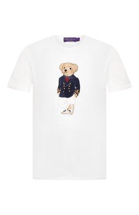Мужская хлопковая футболка RALPH LAUREN белого цвета, арт. 790786266 | Фото 1