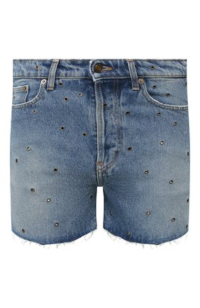 Мужские джинсовые шорты SAINT LAURENT голубого цвета, арт. 606814/YL870 | Фото 1