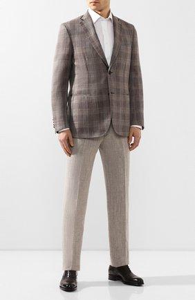 Мужской пиджак из смеси шерсти и шелка BRIONI коричневого цвета, арт. RGKN0L/P9A67/D0R0TE0 | Фото 2