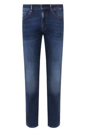 Мужские джинсы BOSS синего цвета, арт. 50427403   Фото 1