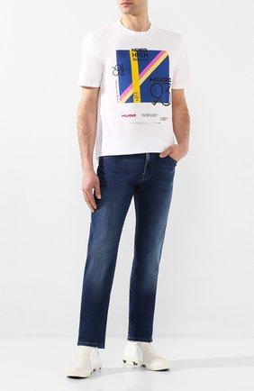 Мужские джинсы BOSS синего цвета, арт. 50427403   Фото 2
