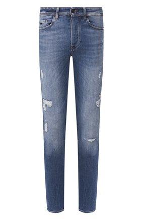 Мужские джинсы BOSS синего цвета, арт. 50426835   Фото 1