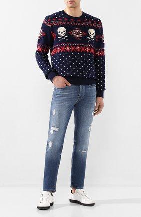 Мужские джинсы BOSS синего цвета, арт. 50426835   Фото 2